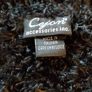 Cejon Accessories - Cejon Black Fun Fur Yarn Scarf Stretchy Long
